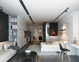 livingroom 3D scene Apartment HT