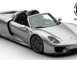 Porsche 918 Spyder including detachable roof 3D Model