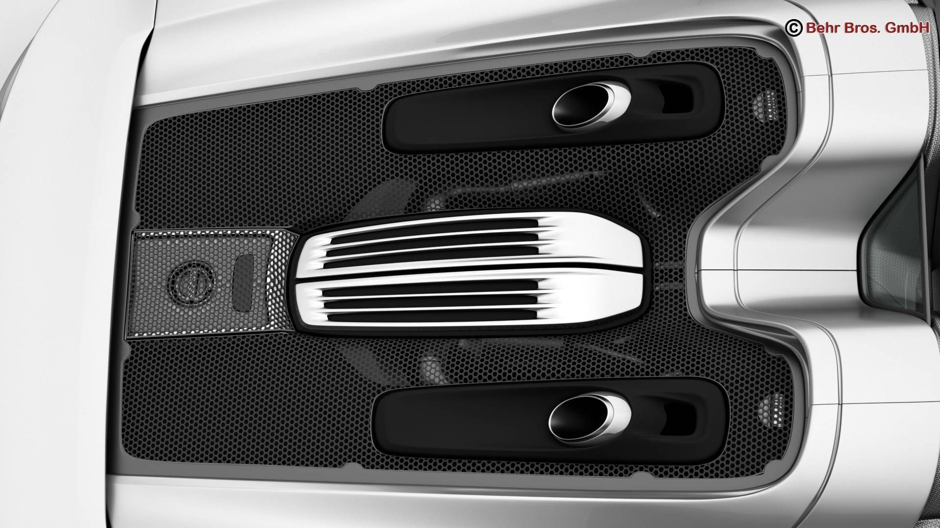 porsche 918 spyder including detachable roof 3d model max obj 3ds fbx c4d lwo. Black Bedroom Furniture Sets. Home Design Ideas