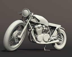 3D model Cafe Racer Motorcycle