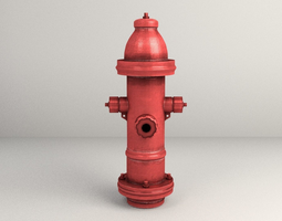 3d asset city fire hydrant realtime
