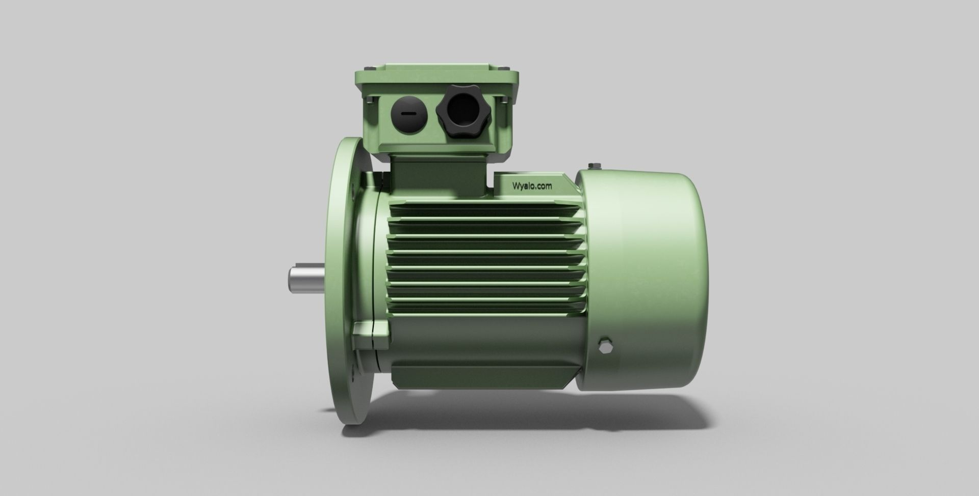 Iec80 b5 electric motor free 3d model dwg ipt stp Electric ac motors