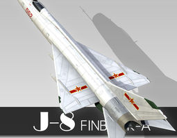 3D model Chinese Fighter J-8 Finback