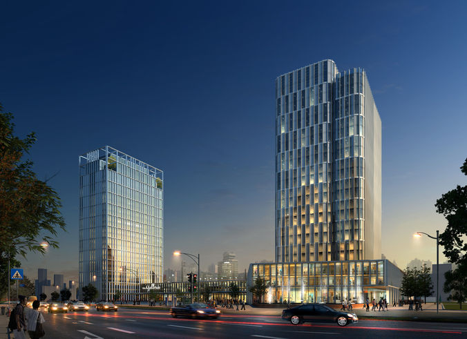 Skyscraper Office Building 0613D model