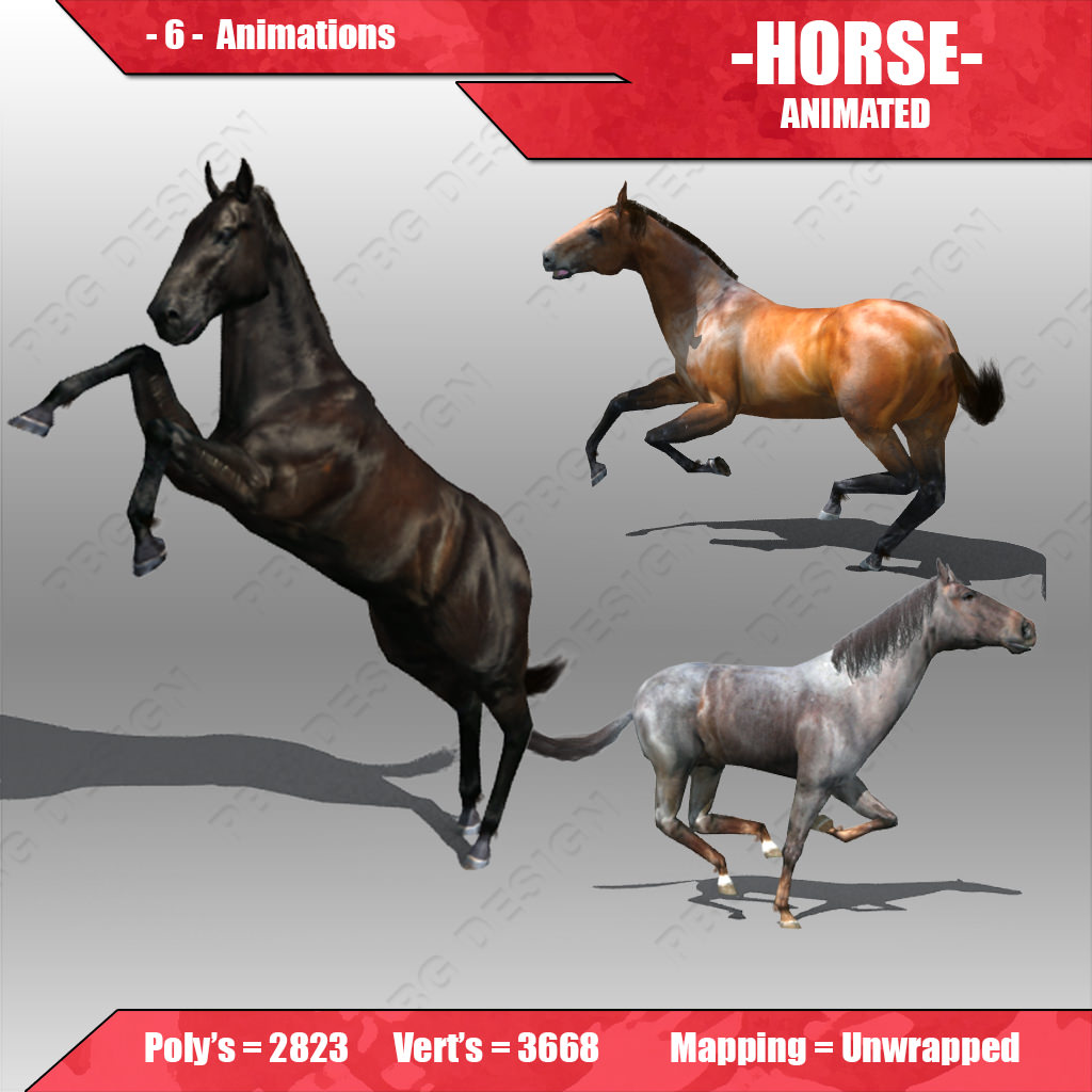 Horse Animated 3d Asset Cgtrader
