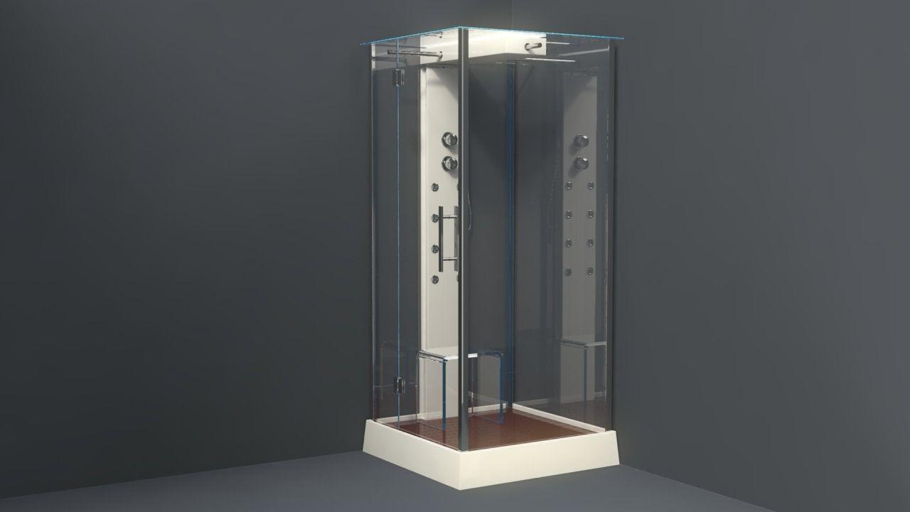 3d Model Bathroom Collection Of Shower Corners Bath Corners Vr Ar Low Poly Fbx