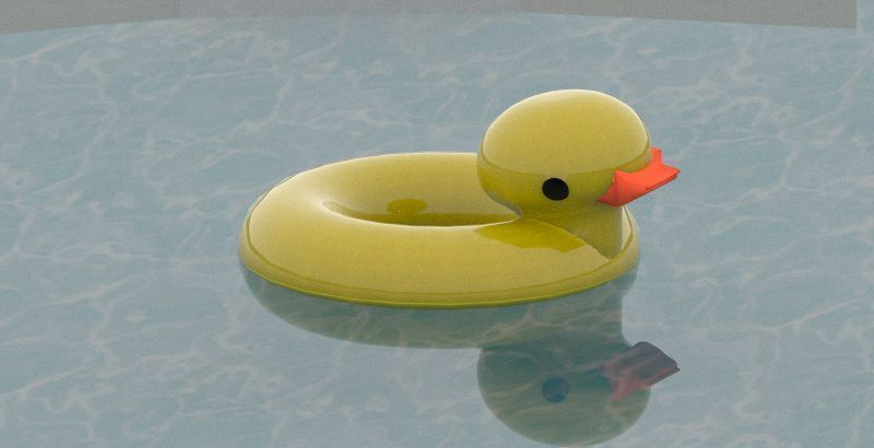 Rubber Ducky Pool Float 3d Cgtrader