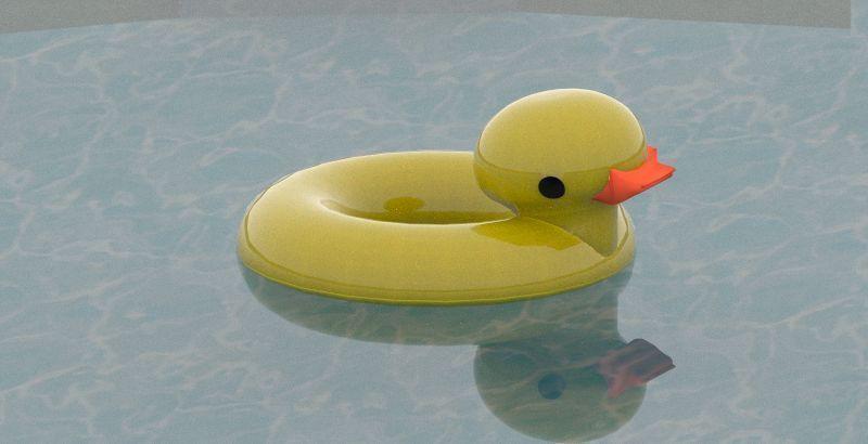 Rubber Ducky Pool Float 3d Model Obj Fbx Dwg Skp