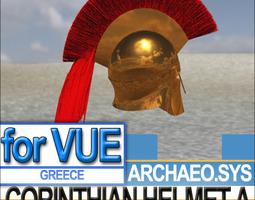 Greek Corinthian Helmet A 3D Model
