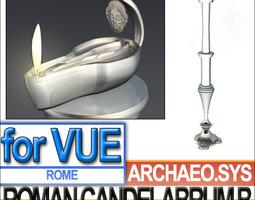 Ancient Roman Candelabrum B 3D Model
