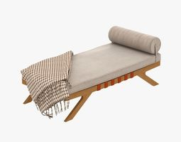 mid century chaise lounge 3D