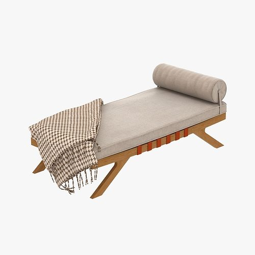 Mid century chaise lounge 3d model max obj 3ds fbx mtl - Mid century chaise lounge chair ...