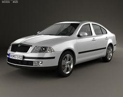 Skoda Octavia liftback 2005 3D Model