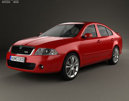 Skoda Octavia RS liftback 2005 3D Model