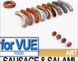 Sausage Salami A 3D Model