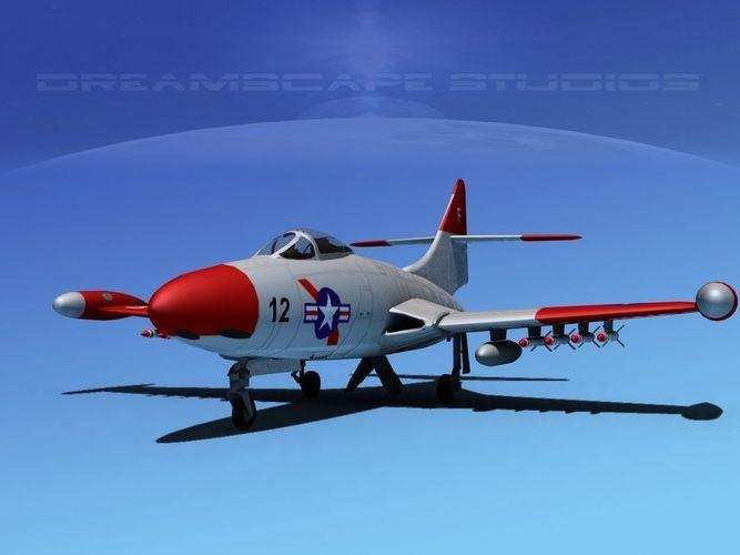 Grumman F9F-5 Panther USMC 43D model