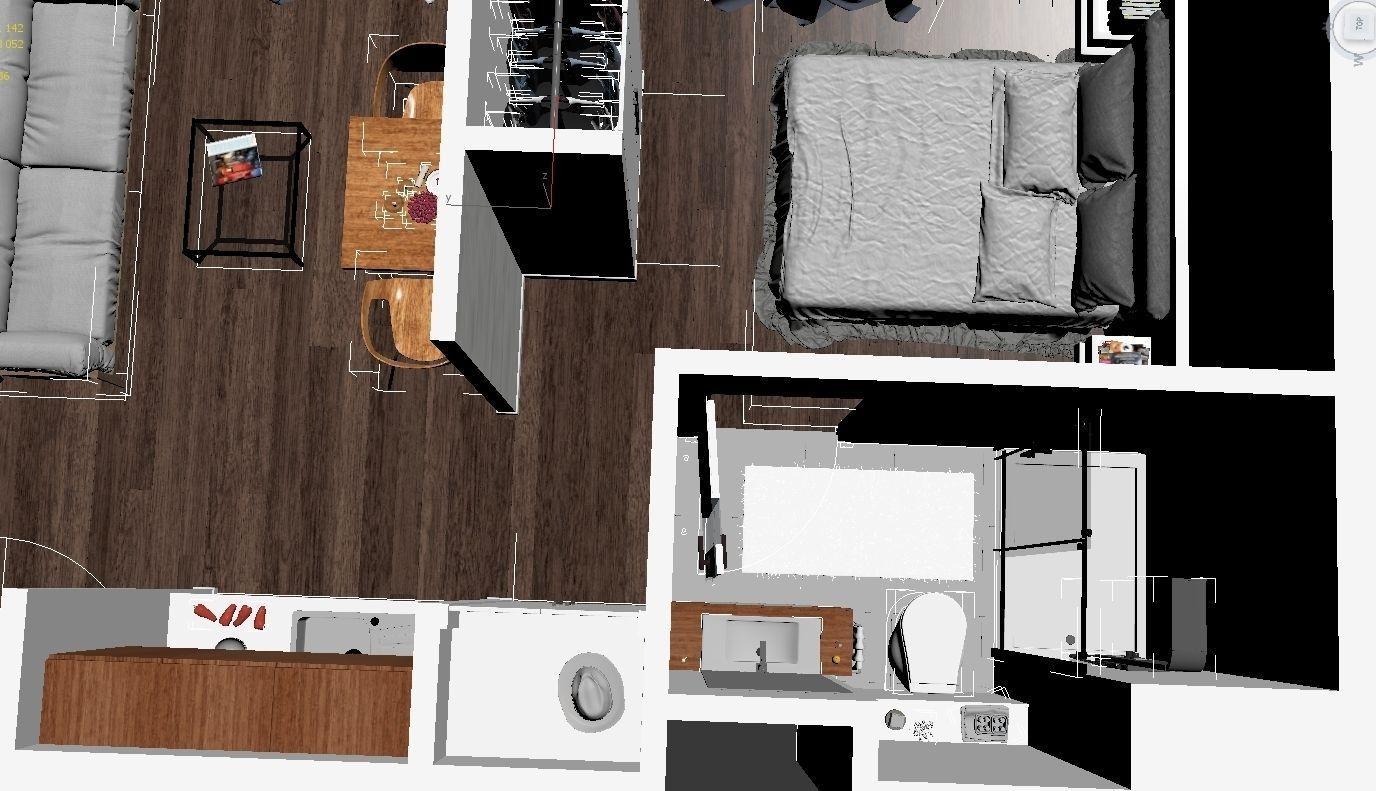3d Floor Plan 2 3d Model Max Obj Mtl