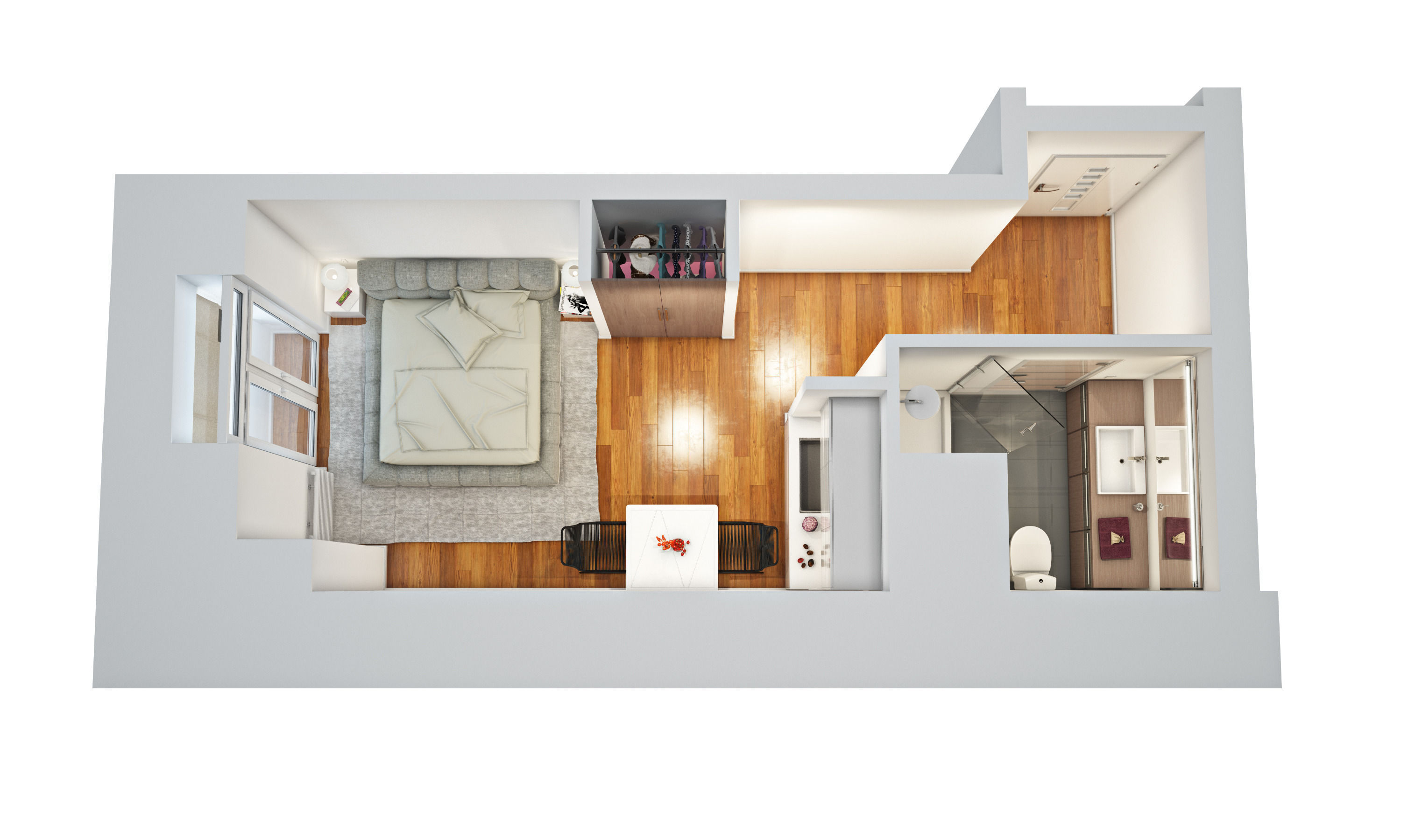 Floor Plan 3d Model Max Obj Mtl 1 ...