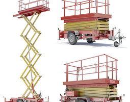 Trailer Scissor Lift 3D Model