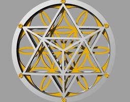 flower of life pendant 3d print model