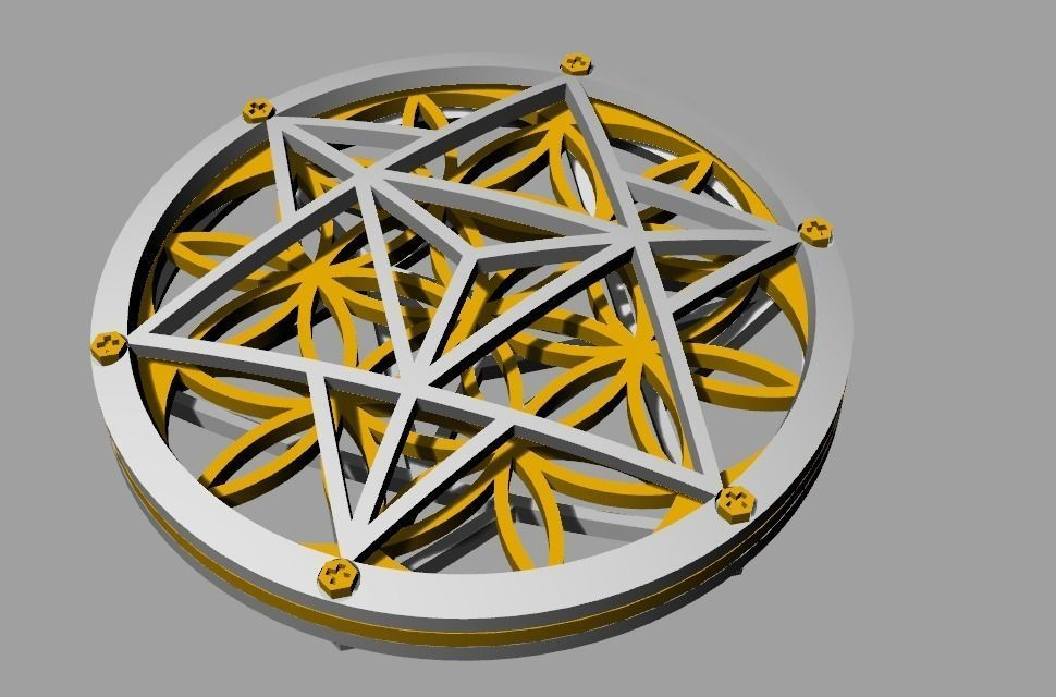 Flower Of Life Pendant 3d Model 3d Printable Stl