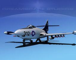 Grumman F9F-5 Panther USN 5 3D Model