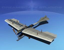 Antoinette Monoplane V04 3D Model