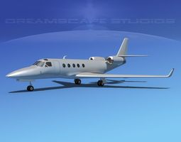 IAI Astra Jet Bare Metal 3D Model