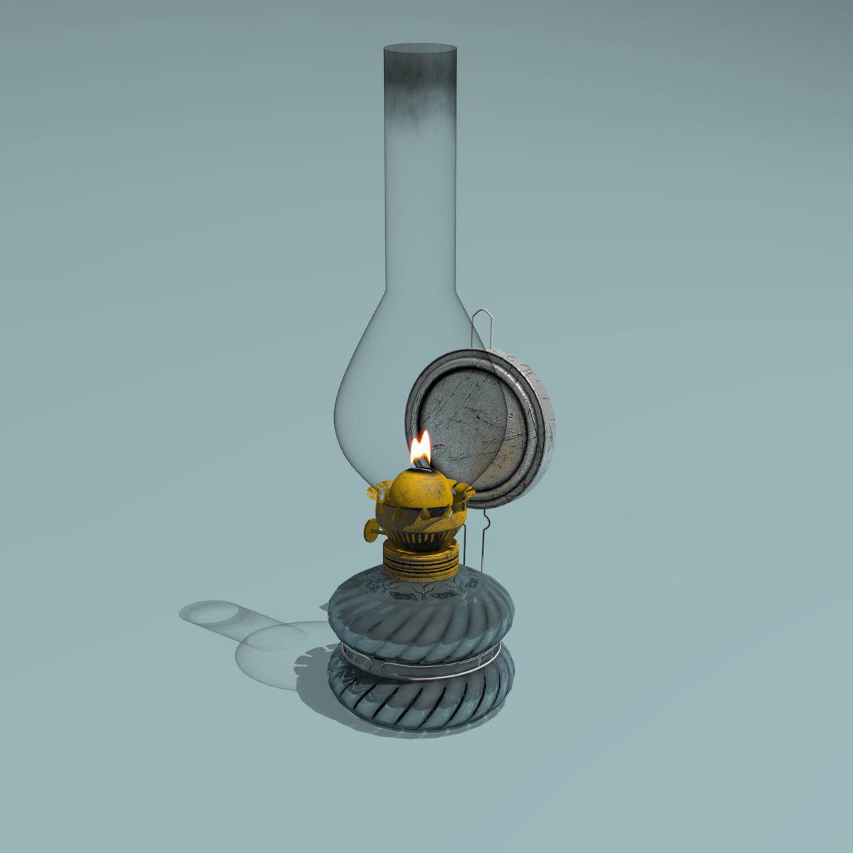 Oil Lamp 3d Model Max Obj Fbx