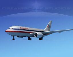 Boeing 767-100 American 3D Model