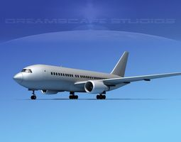 Boeing 767-100 Bare Metal 3D Model