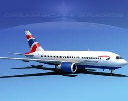 Boeing 767-100 British Airways 1 3D Model