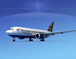 Boeing 767-100 British Airways 2 3D Model