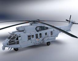 super puma helicopter 3d model max obj c4d