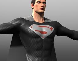 reign of supermen costume 3d model obj fbx
