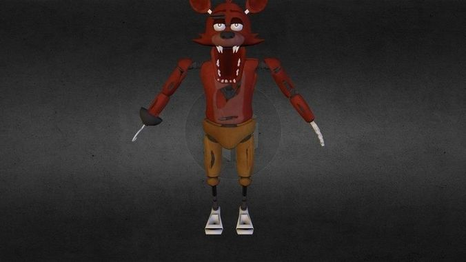 Foxy the pirate fox free 3d model 3d printable stl cgtrader com