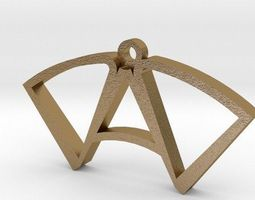 3D print model DAD pendant