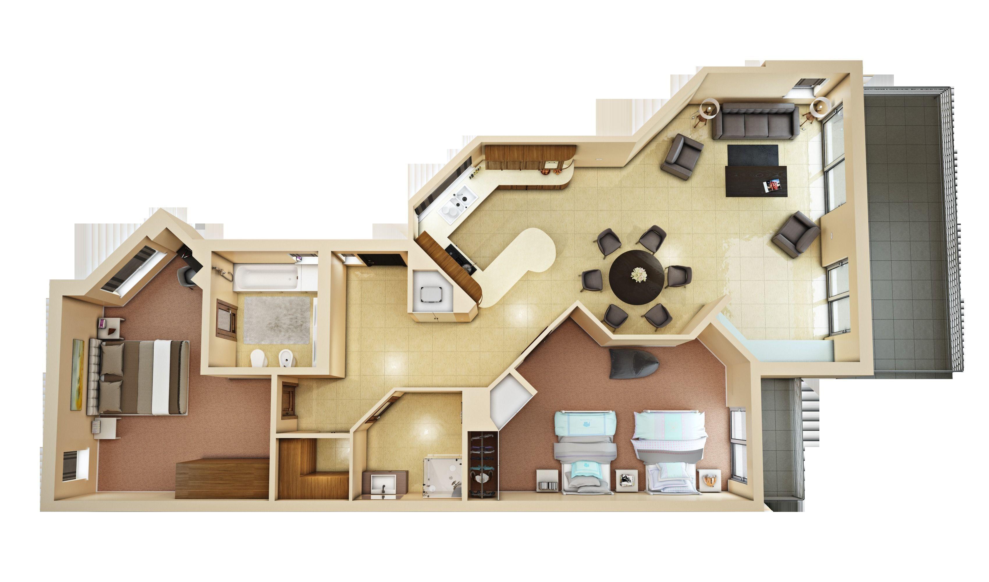 3d floor plan 4 | CGTrader