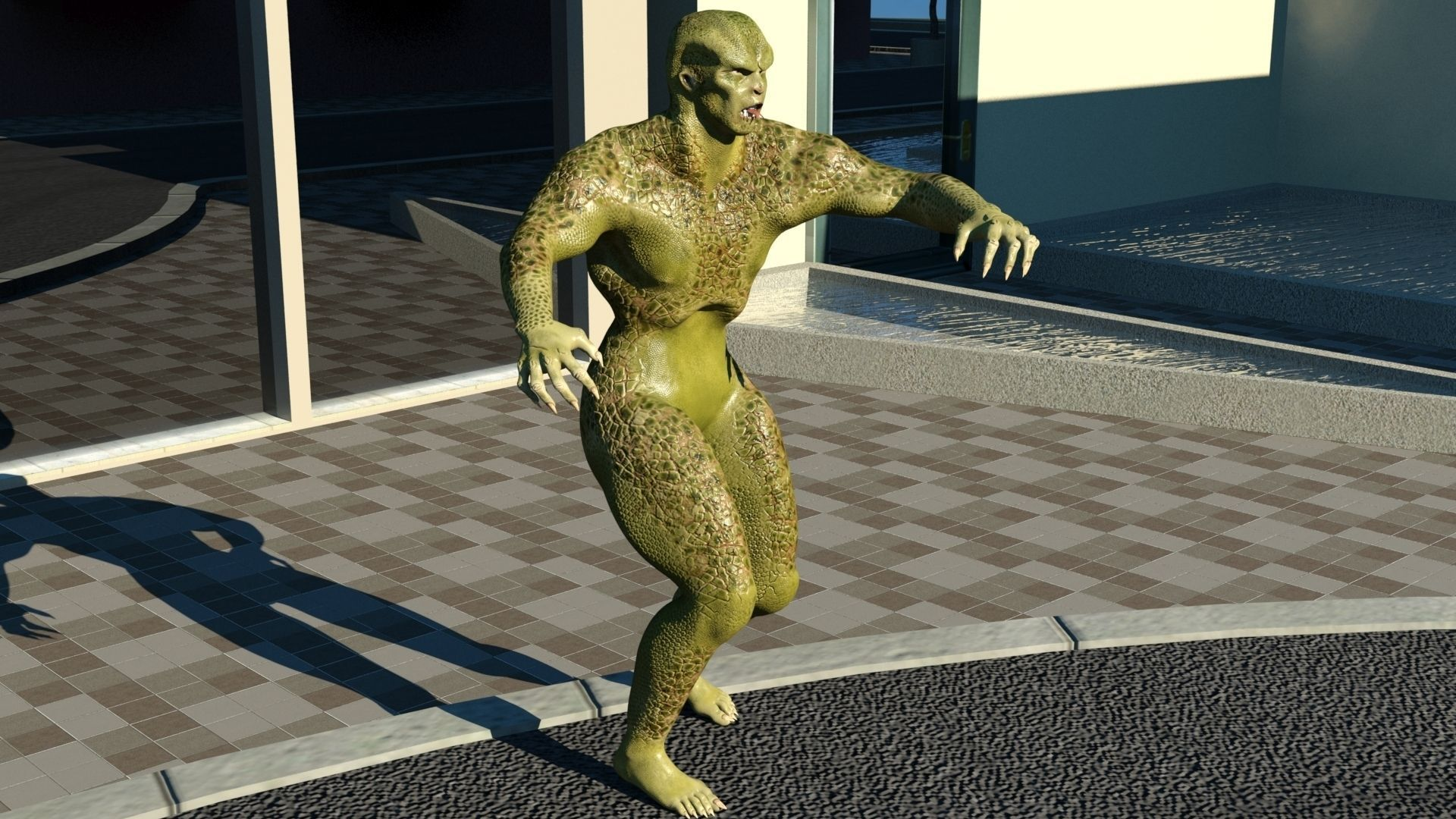 Humanoid Monster 3d Model Game Ready Max Obj