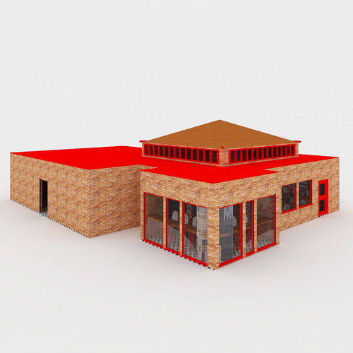 Cafe With Interior3D model