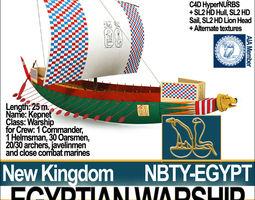 3D model Ancient Egypt Warship Kepnet NK