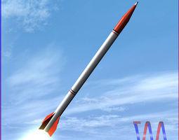 oghab rocket VR / AR ready 3d model