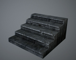 3d model old stairs VR / AR ready