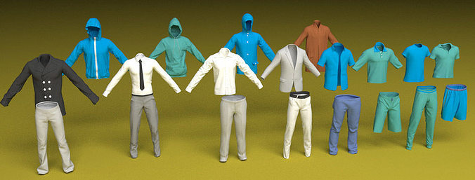 male clothes 3d model max obj mtl 3ds fbx c4d 1