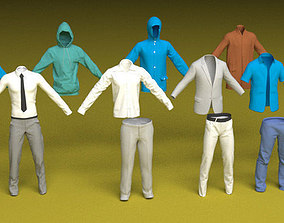 Male Clothes 3D collar