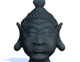 buddha head statue game-ready 3d model
