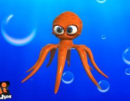 realtime 3d asset animated cartoon octopus