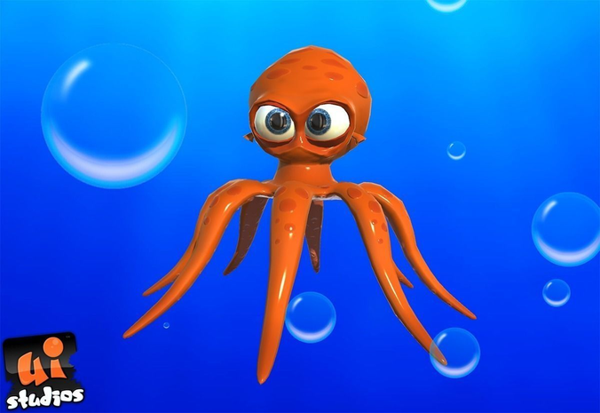 Cartoon Octopus3D model