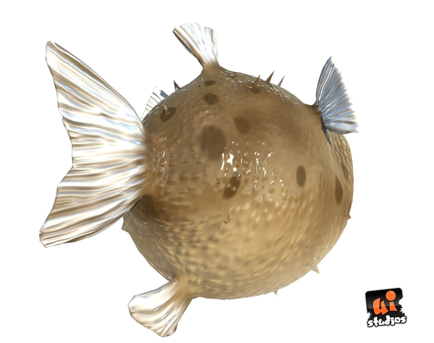3d model toon puffer fish vr ar low poly ma mb for Puffer fish price