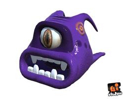 animated 3d asset realtime alien slug
